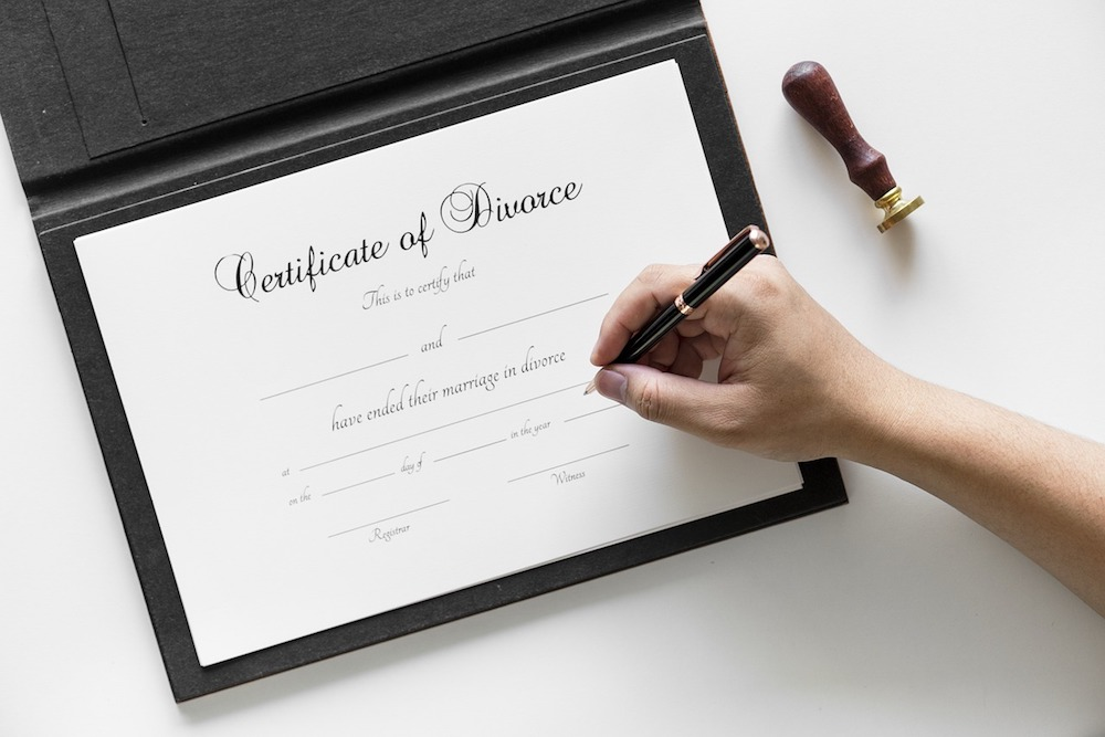Certificate of Divorce Family Law New Jersey